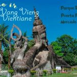 Vang Vieng – Vientiane: Parque Bhuda, Puerta Patuxai, Mercado nocturno