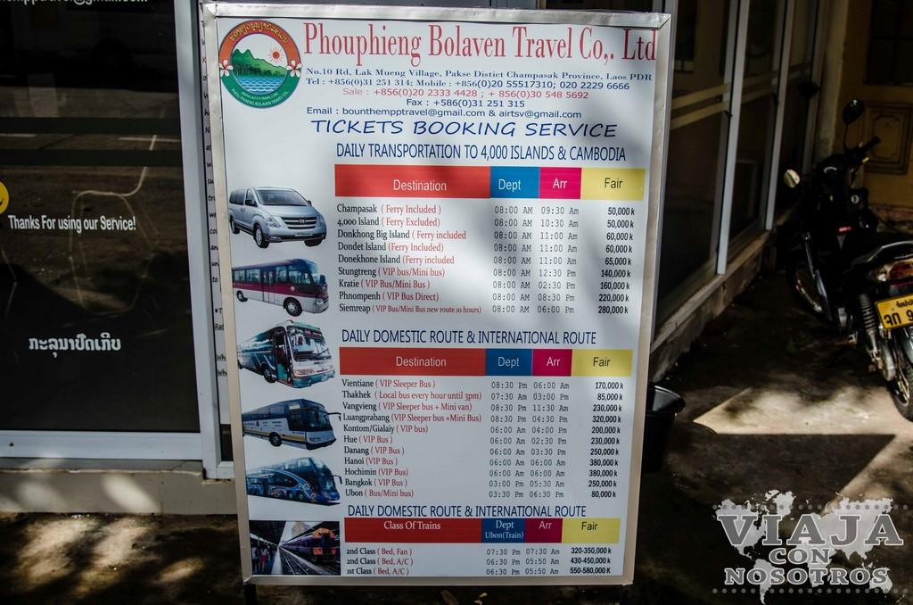 horario de autobuses de pakse