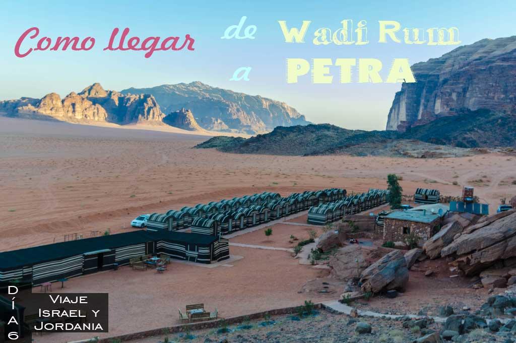 Como ir de Wadi Rum a Petra
