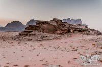 Anochecer en el desierto de Wadi Rum