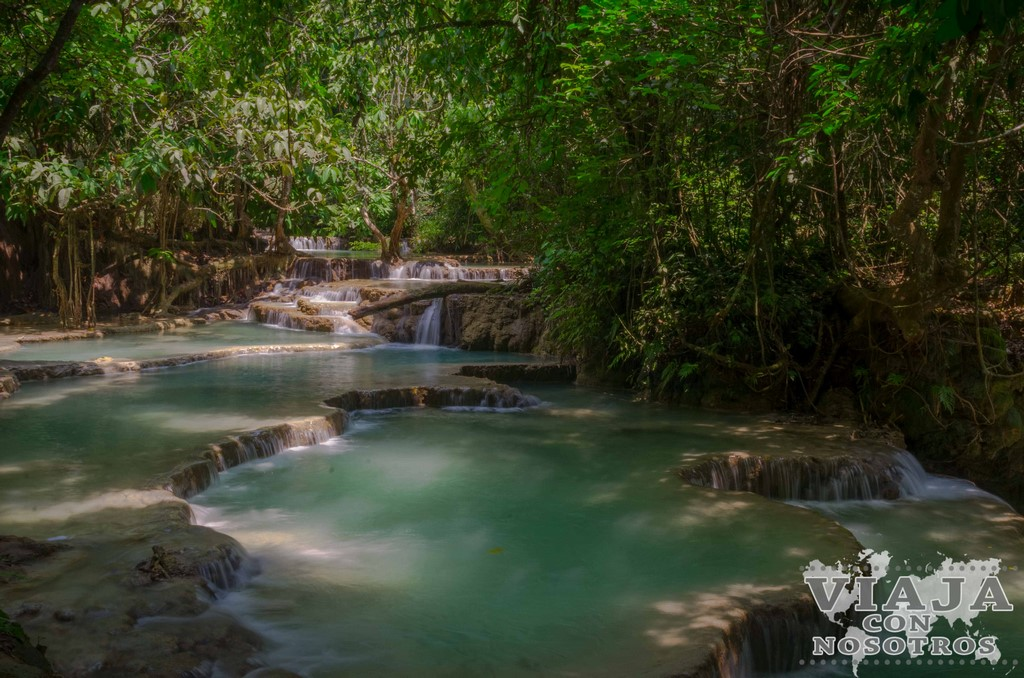 waterfall kuang si