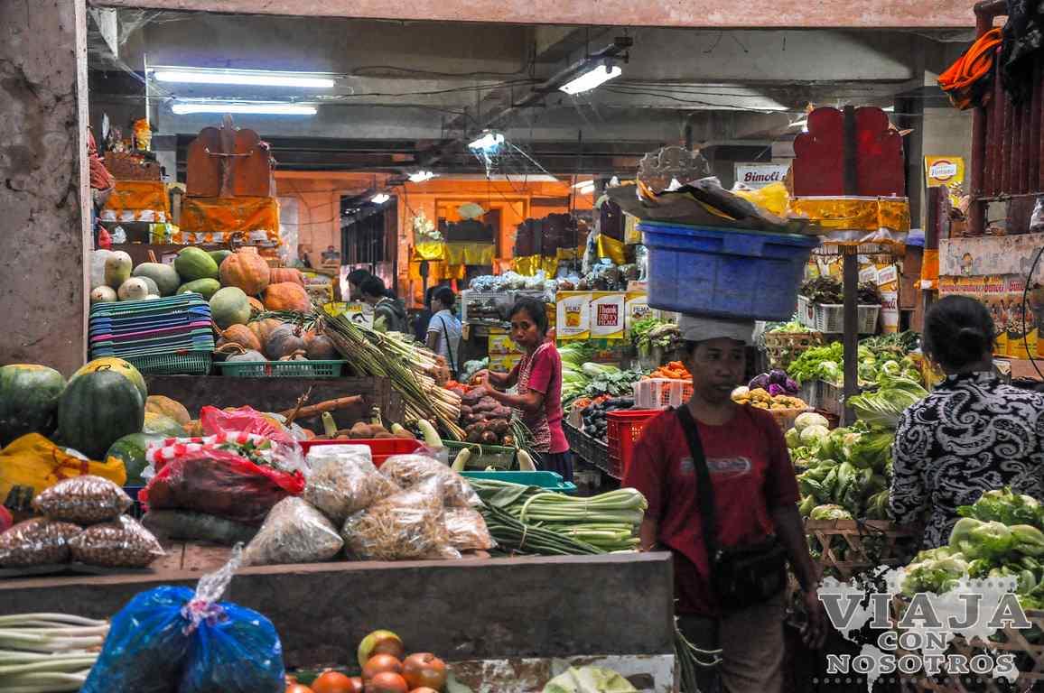 Como visitar el Mercado Badung de Denpasar