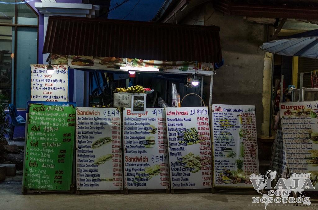 que comer en laos