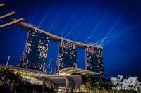 Espectáculo nocturno de Singapur