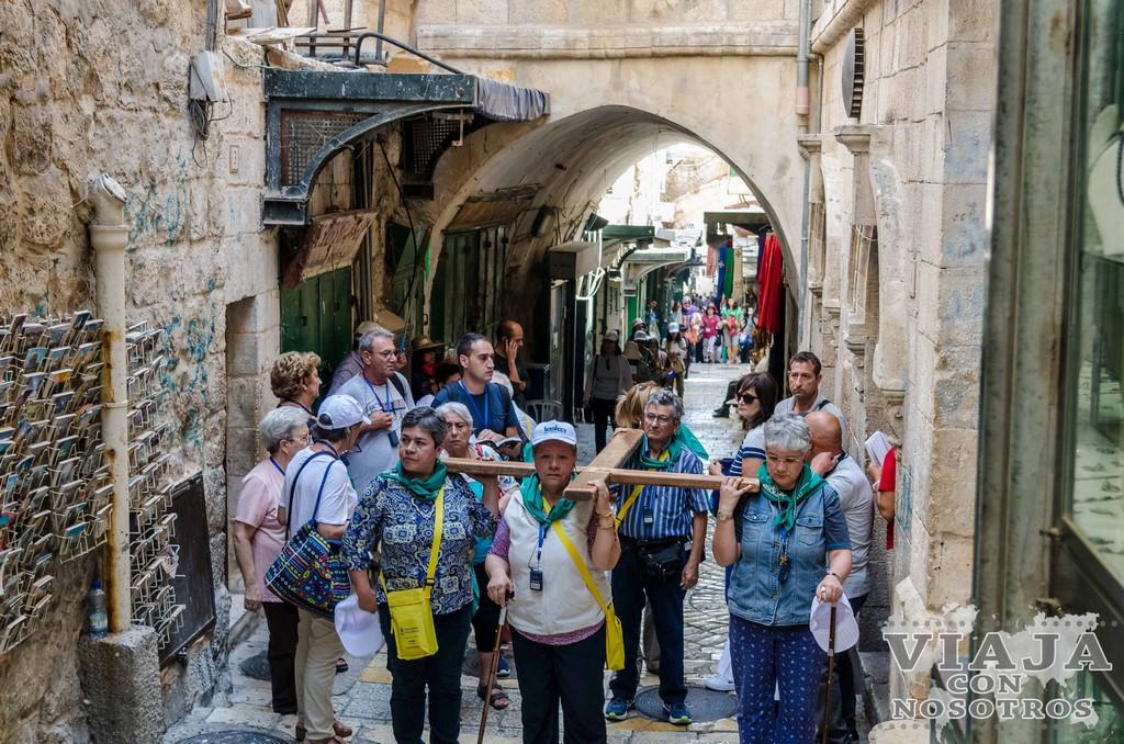 Mapa de la Vía Dolorosa de Jerusalen