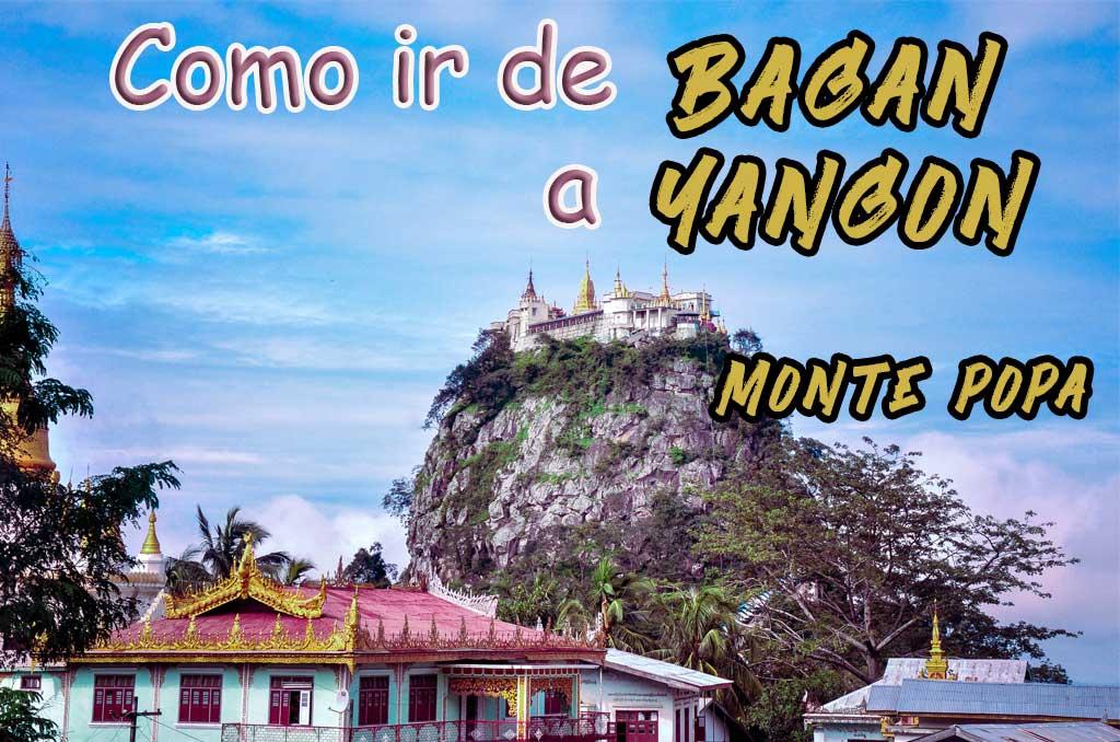Como llegar de Bagan a Yangon