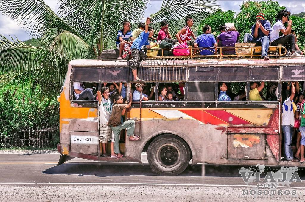 Viajar a Filipinas en transporte público