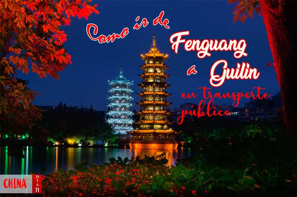 Como ir de Fenguang a Guillin en transporte público