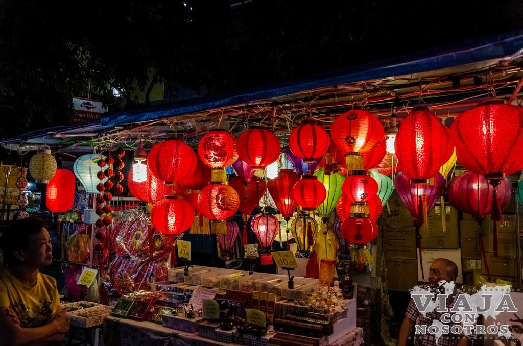 Visitar Chinatown de Singapur por la noche