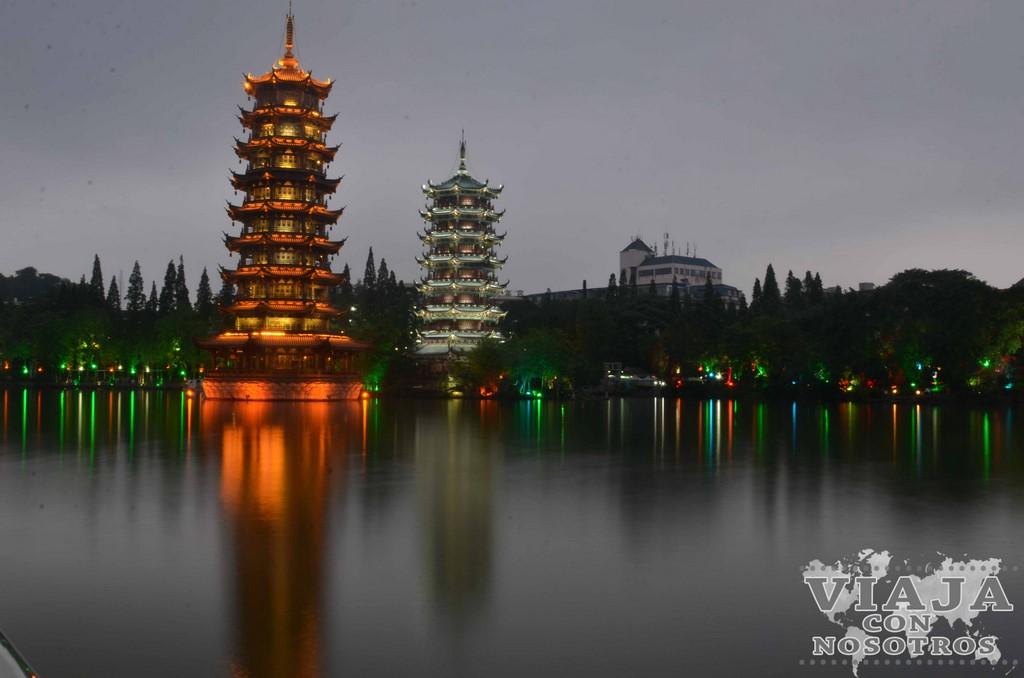 Pagodas del Sol y de la Luna de Guilin