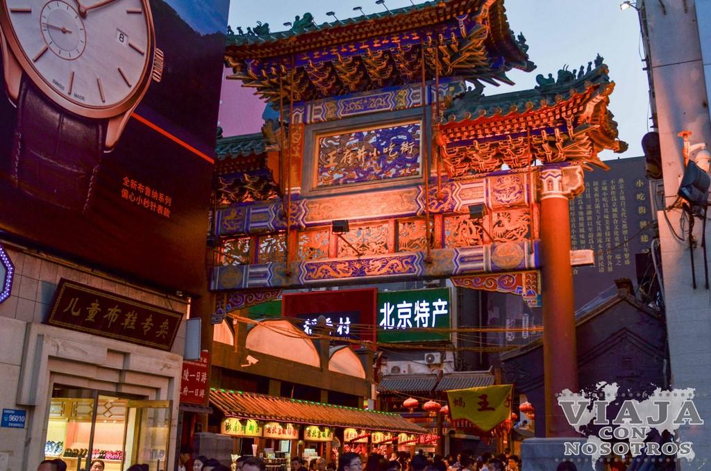 Visitar el Mercado Nocturno de Pekín