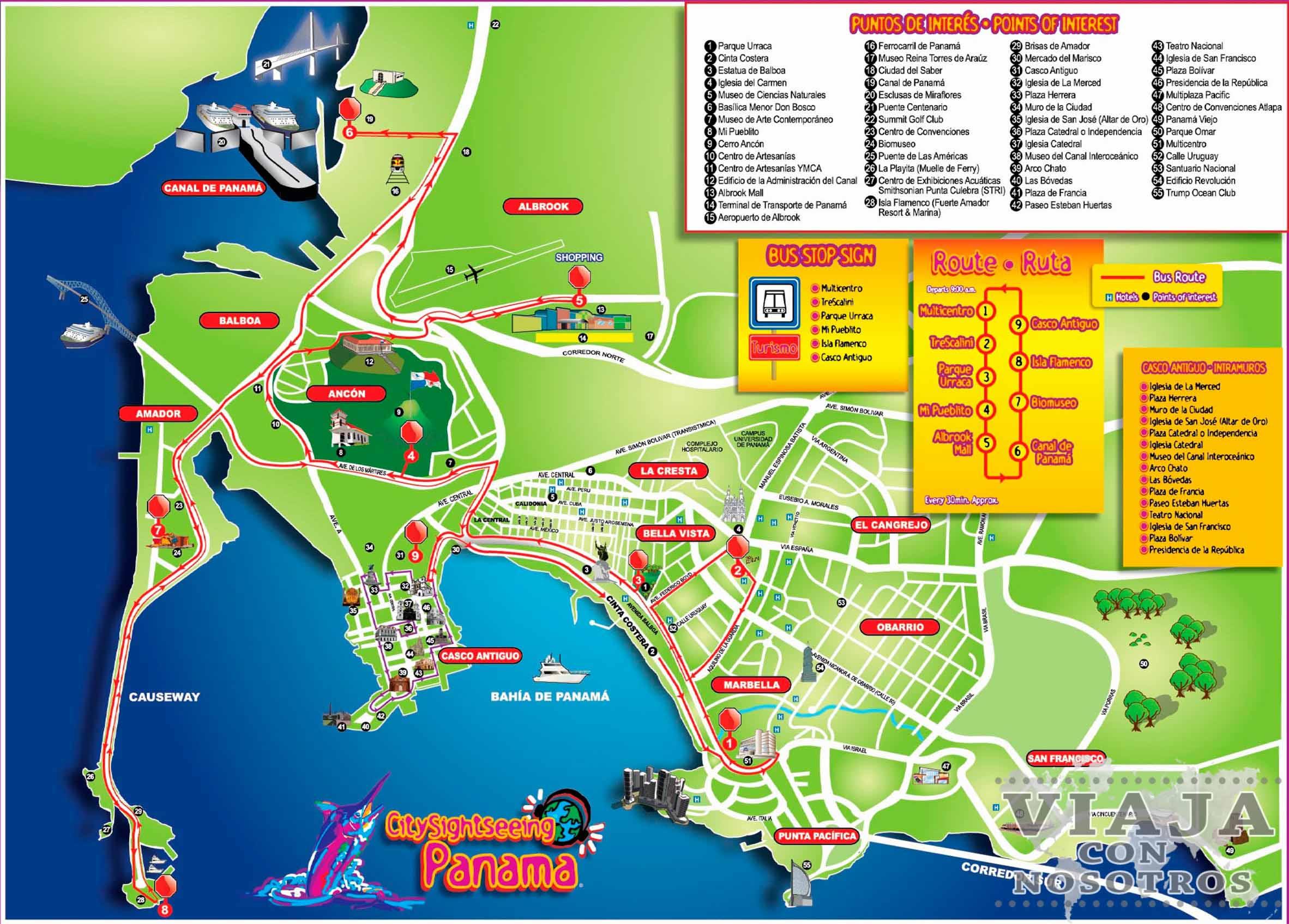 Descargar el mapa de la Ciudad de Panamá
