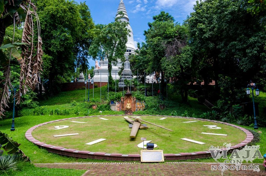 Como llegar al El templo Wat Phnom de Phnom Penh