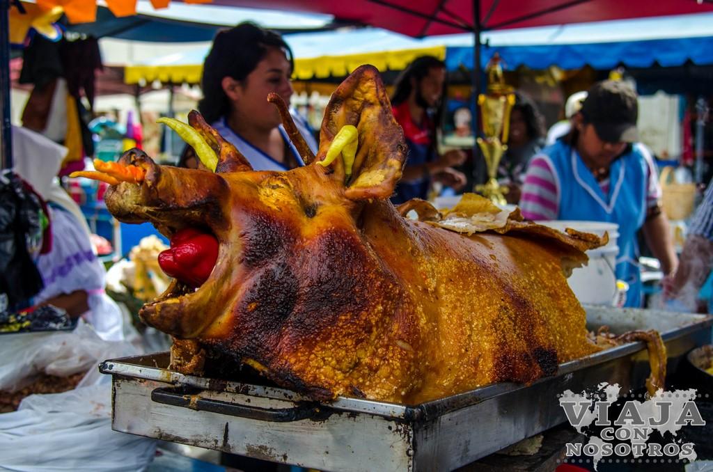 Chancho hornado, plato típico de Ecuador