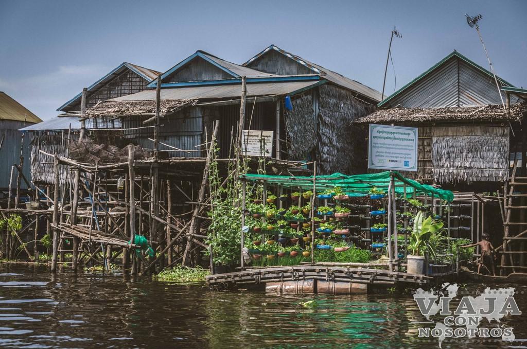 Pueblo flotante Kampong Phluk desde Siem Reap