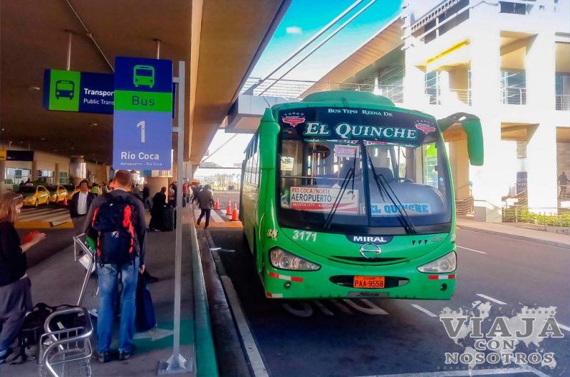 Como ir del aeropuerto de Quito al Centro en autobús