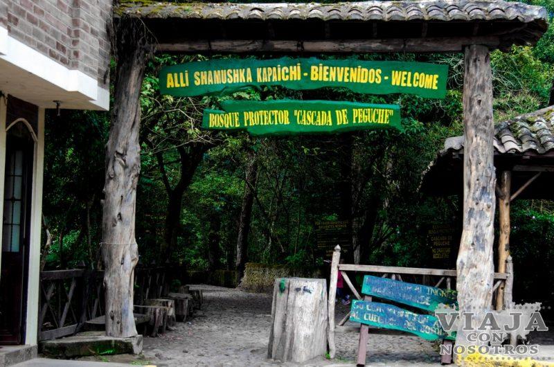 Como visitar la cascada de Peguche