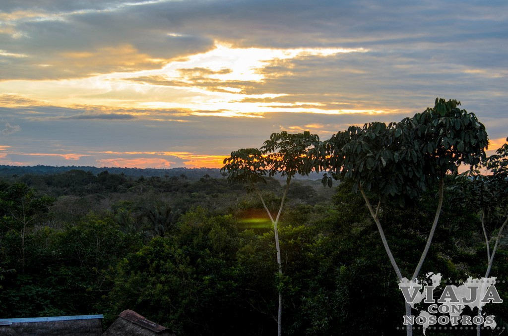 Anochecer en la Reserva de Cuyabeno