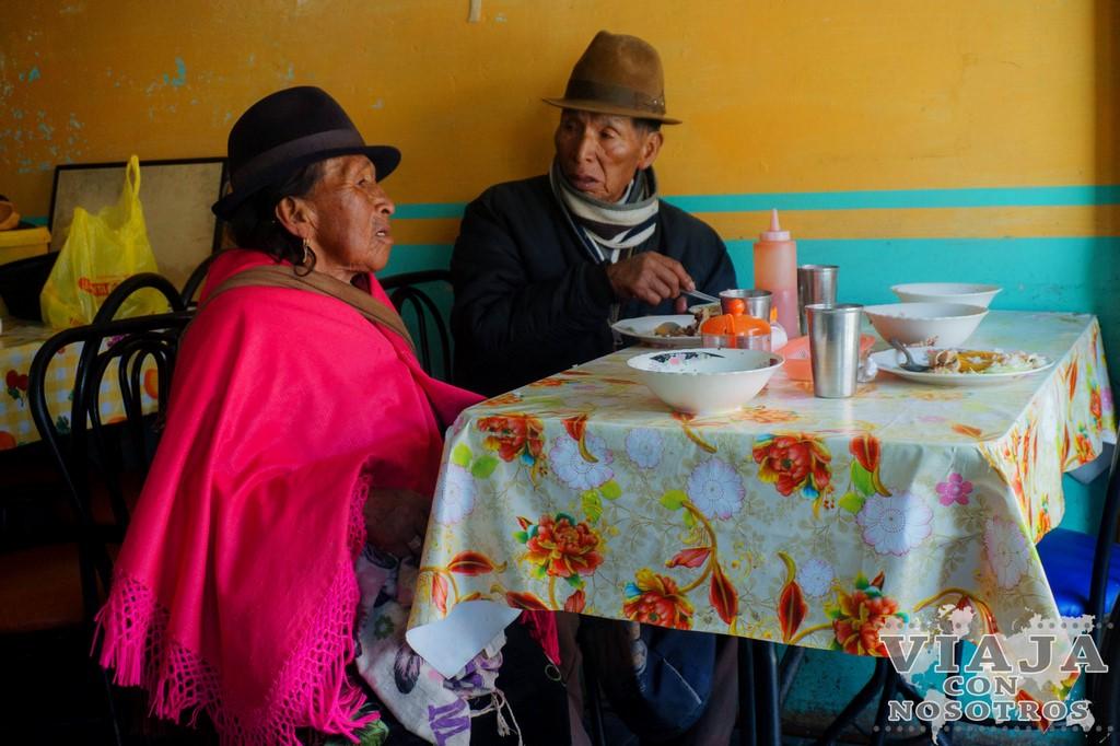 Donde comer en la Laguna de Quilotoa