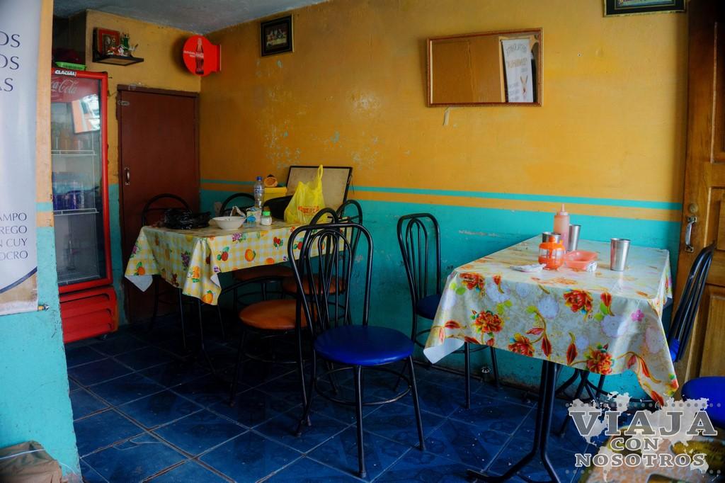 Donde comer en Zumbagua