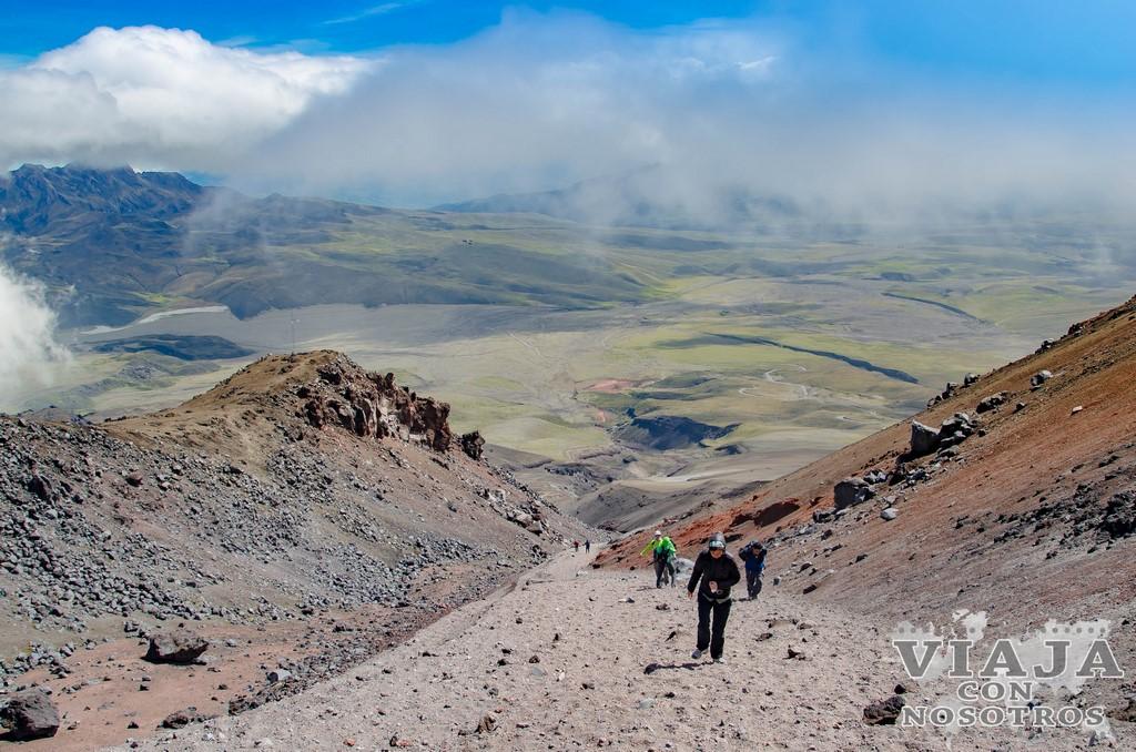 Dificultad para ascender al Volcán Cotopaxi