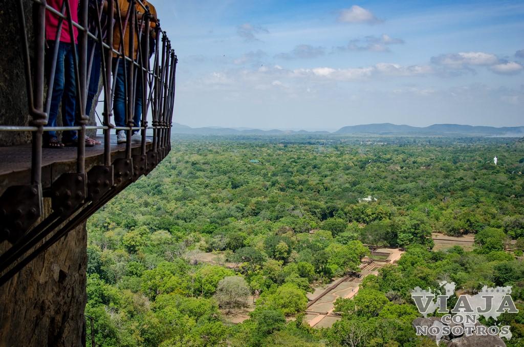 las mejores vistas desde Sigiriya