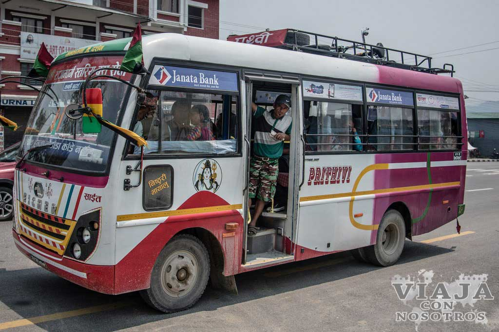 Consejos para montar en los autobuses de Nepal