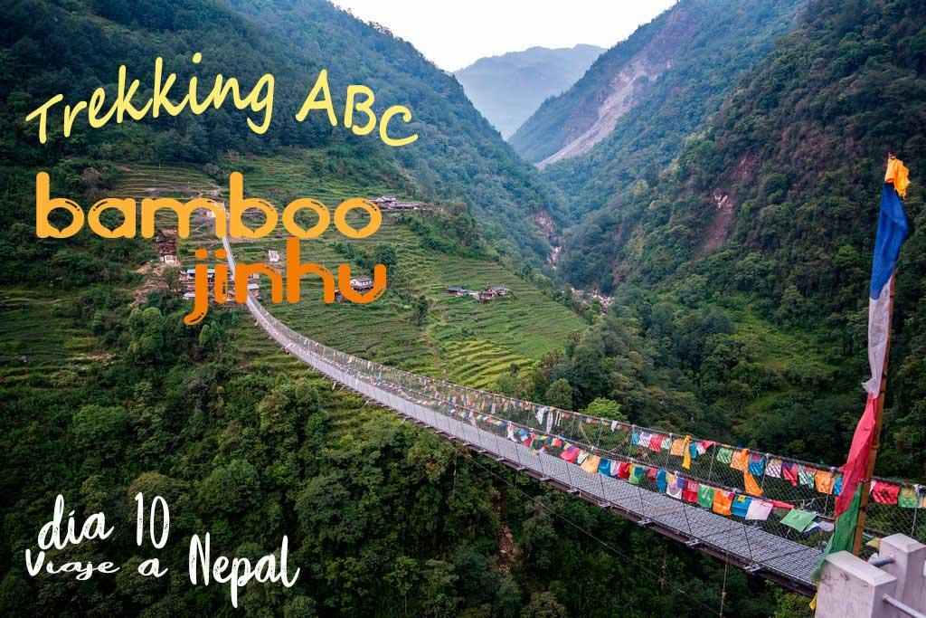 Trekking Annapurnas de Bamboo a Jhinu