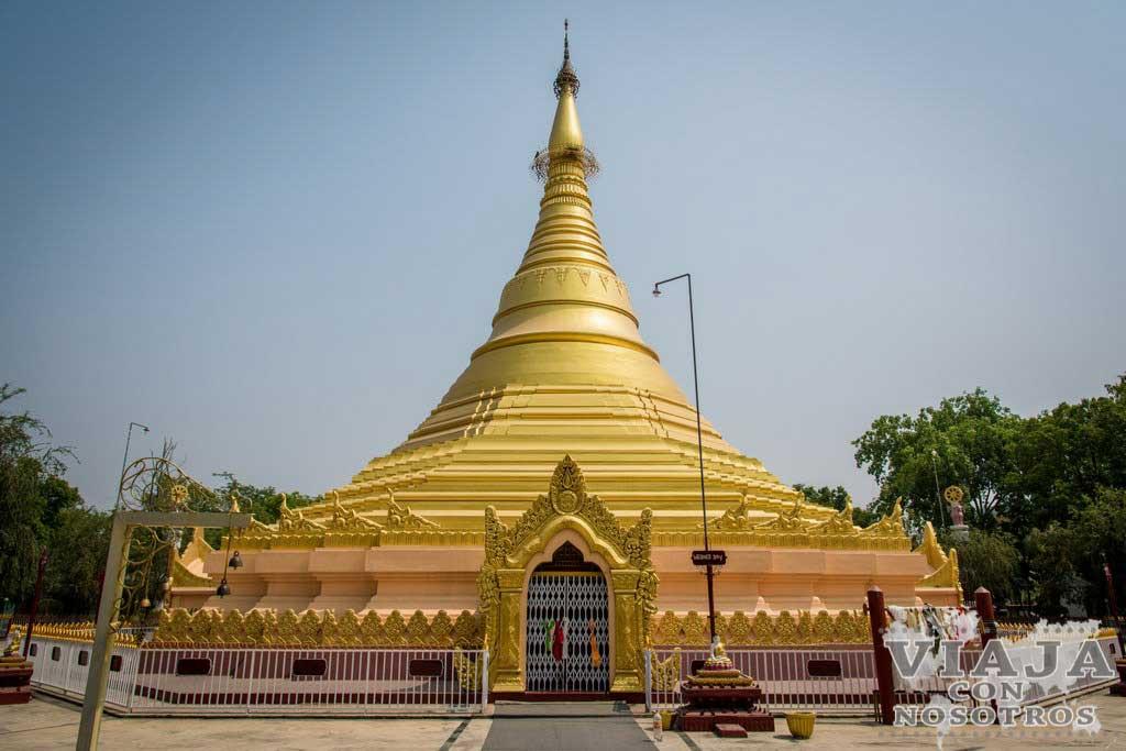 Templo Dorado de Myanmar en Lumbini