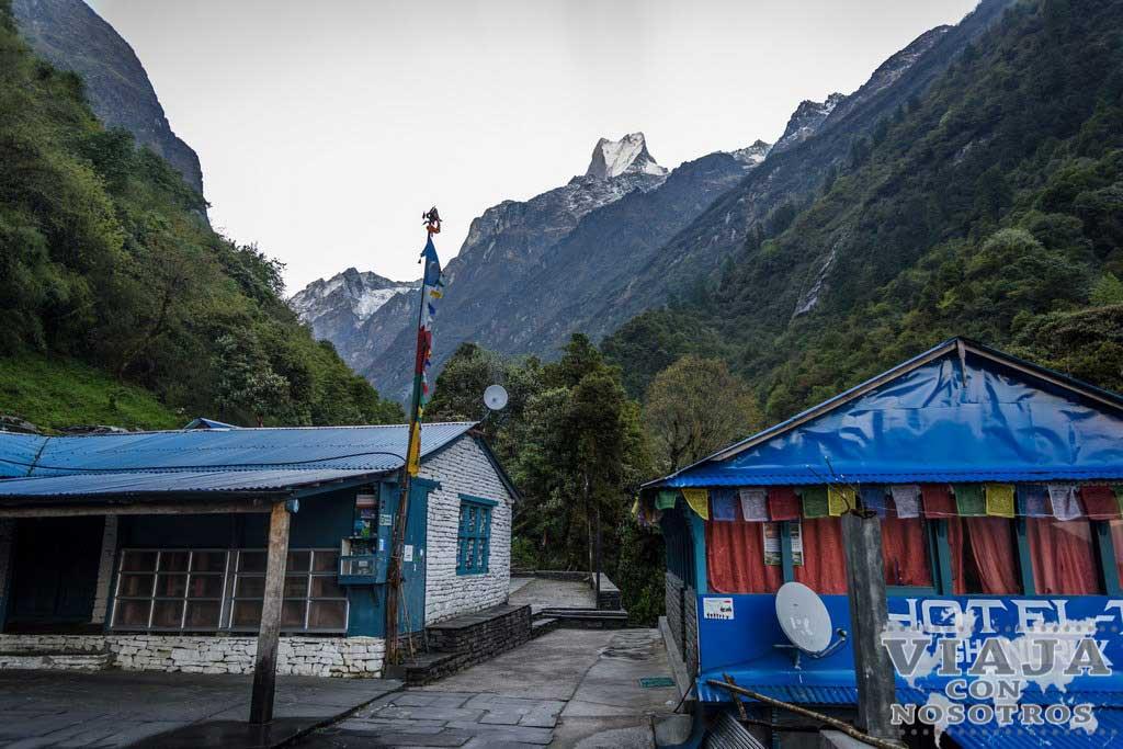 Es duro el trekking de los Annapurnas