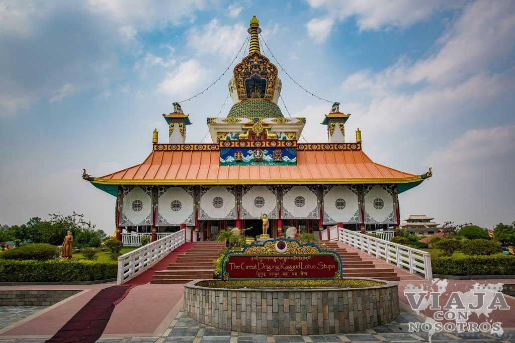 The Great Drigung Kagyud Lotus Stupa Lumbini