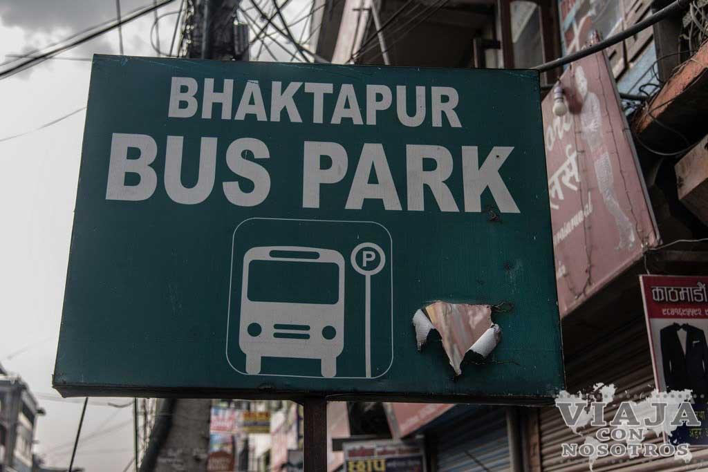 Como ir a la estación Bhaktapur en Katmandú