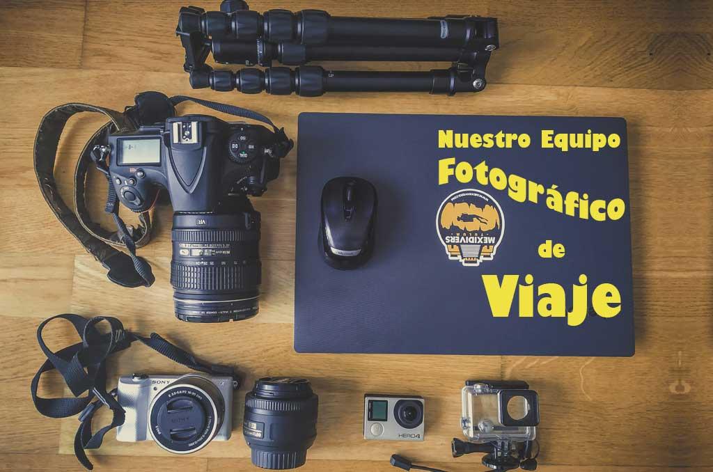 nuestro equipo fotográfico de viaje