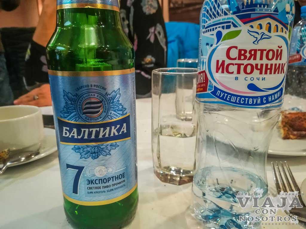 Comida y bebida típica de Rusia