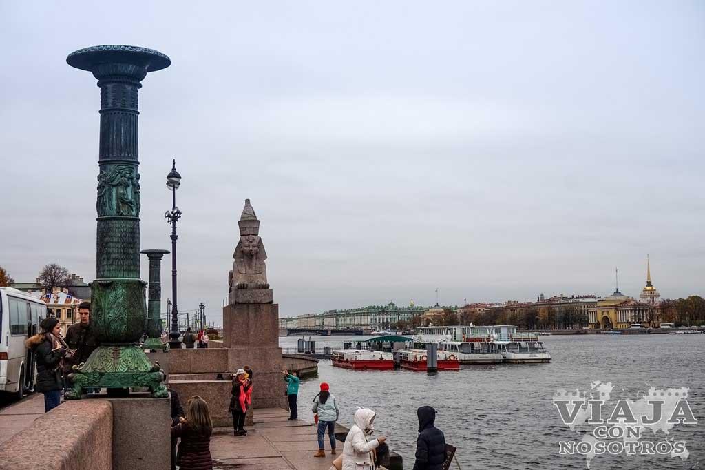 El muelle de las Esfinges de San Petersburgo