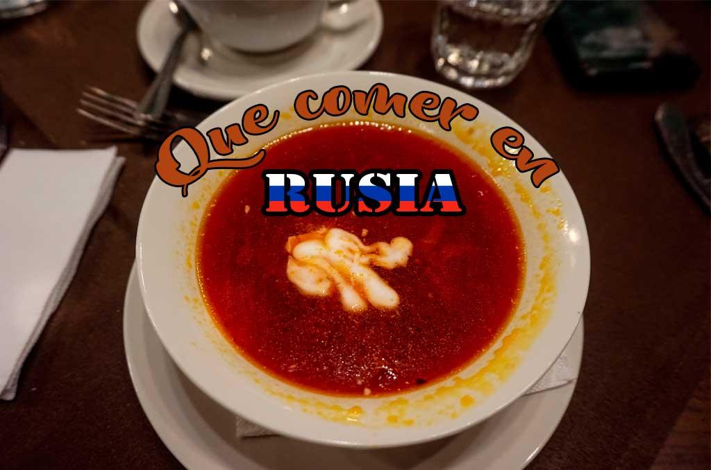 Que comer en Rusia