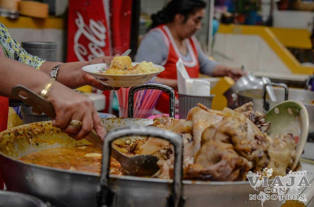 Papas con cuero, plato típico de Ecuador