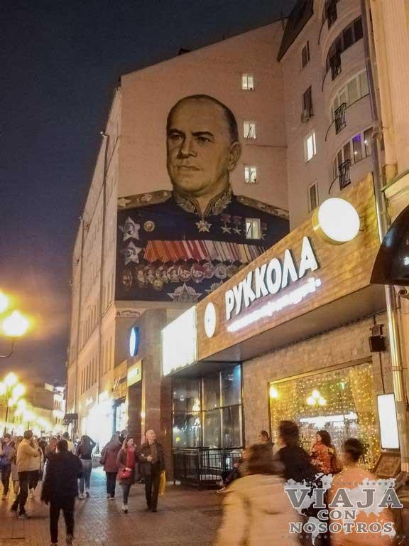Donde comer en la calle Arbat de Moscú