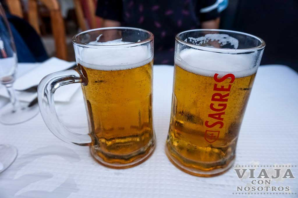 Cerveza típica de Portugal