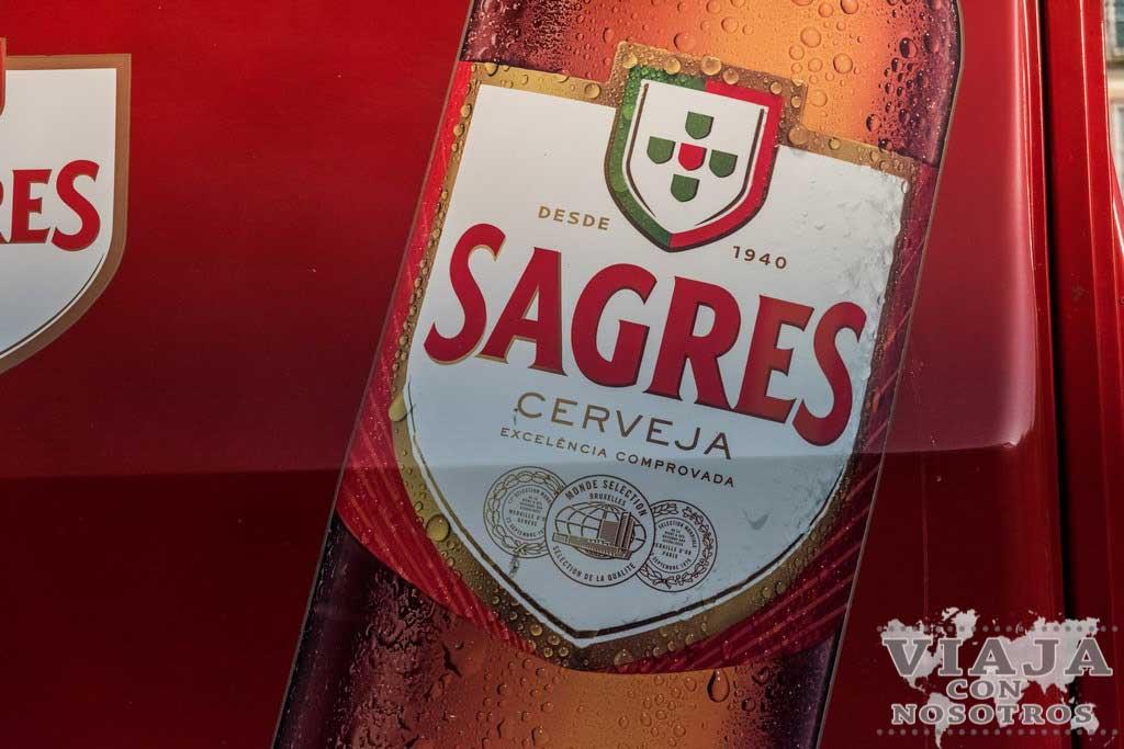 Cerveza Sagres de Portugal