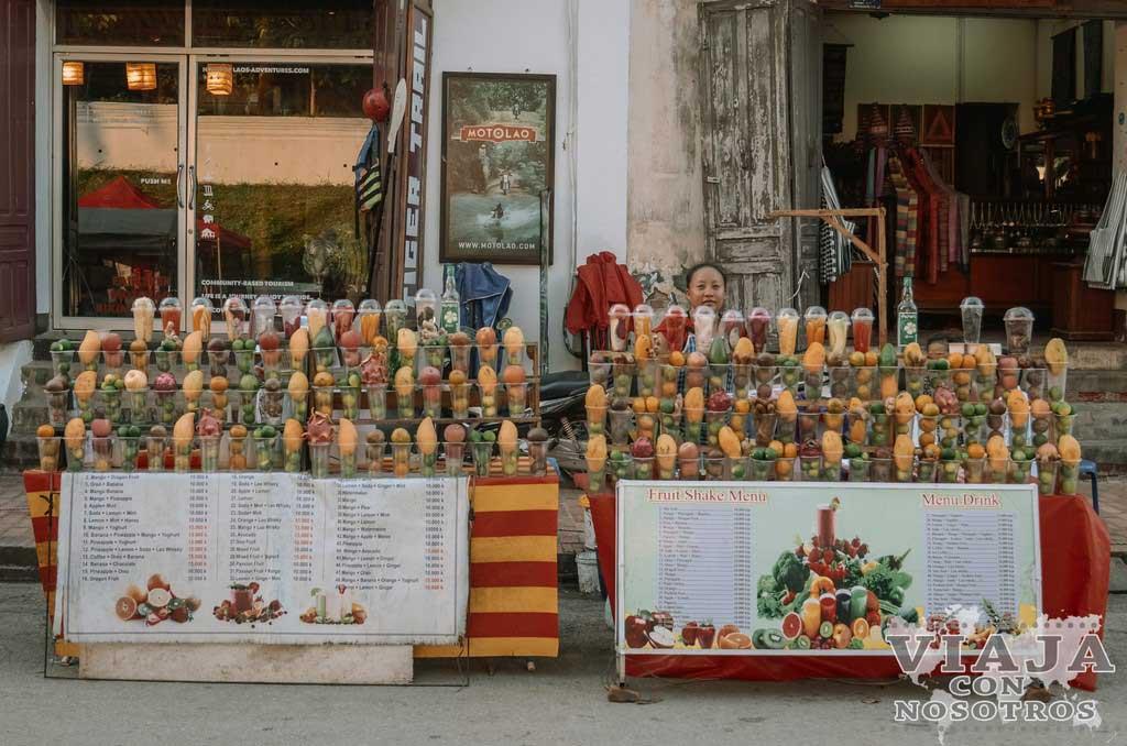 Batidos de frutas de Laos