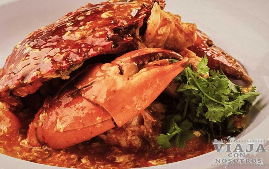 Chili de cangrejo de Singapur