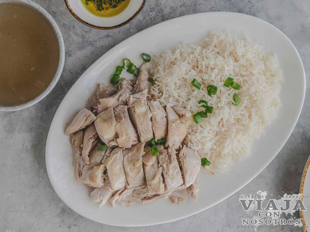 Chicken Rice comida Malasia
