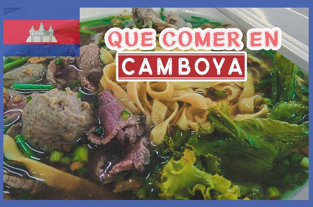 Que comer en Camboya