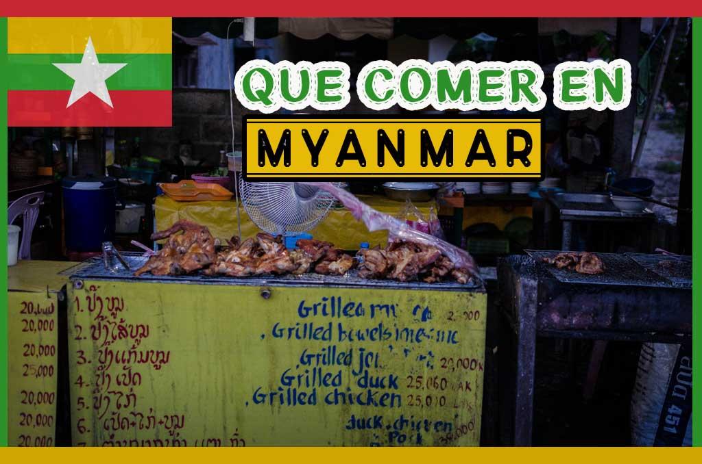Que comer en Myanmar