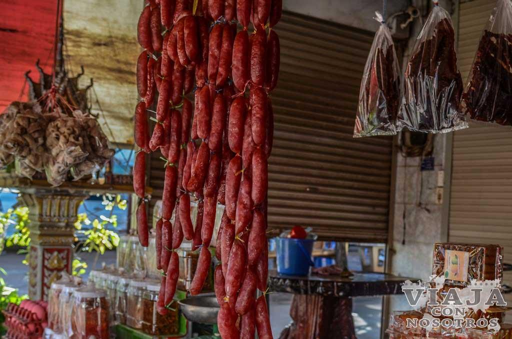 Soon Moh salchichas de Laos