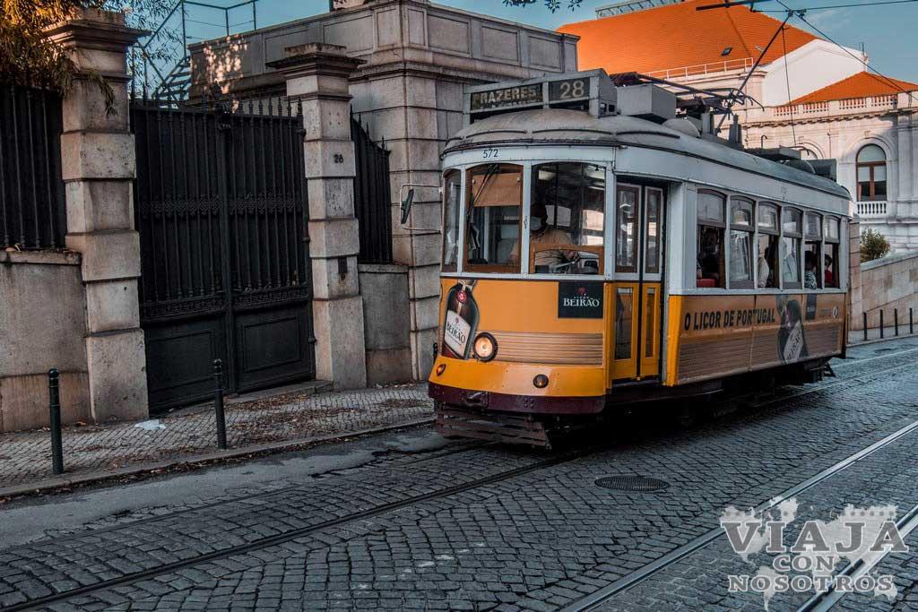 Información del tranvía 28 de Lisboa