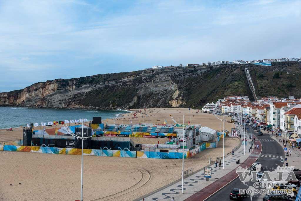Vistas desde el hotel en Nazaré Portugal