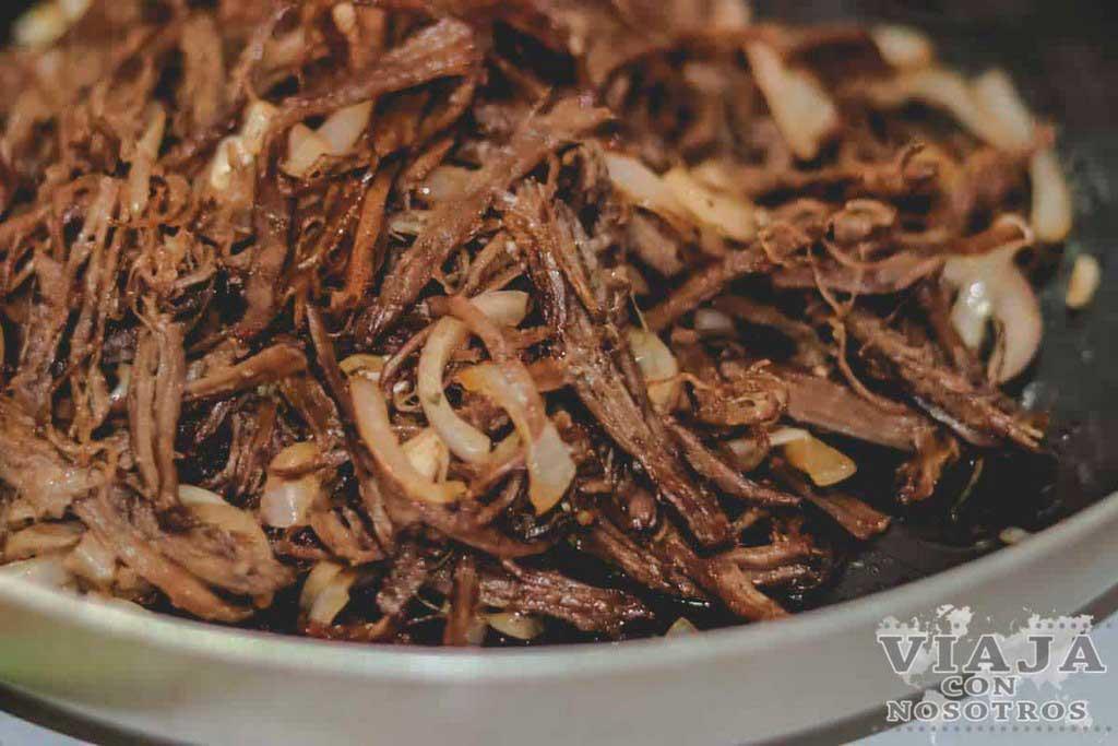 Vaca frita comida Cuba