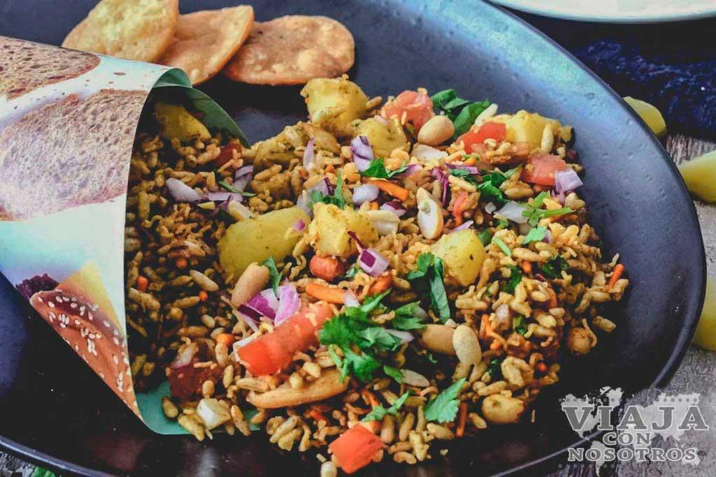 Bhelpuri comida India